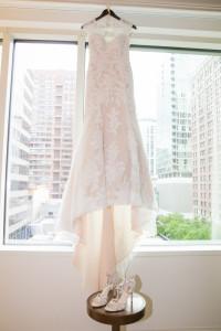 Wedding Dress shoes window, Chicago Wedding